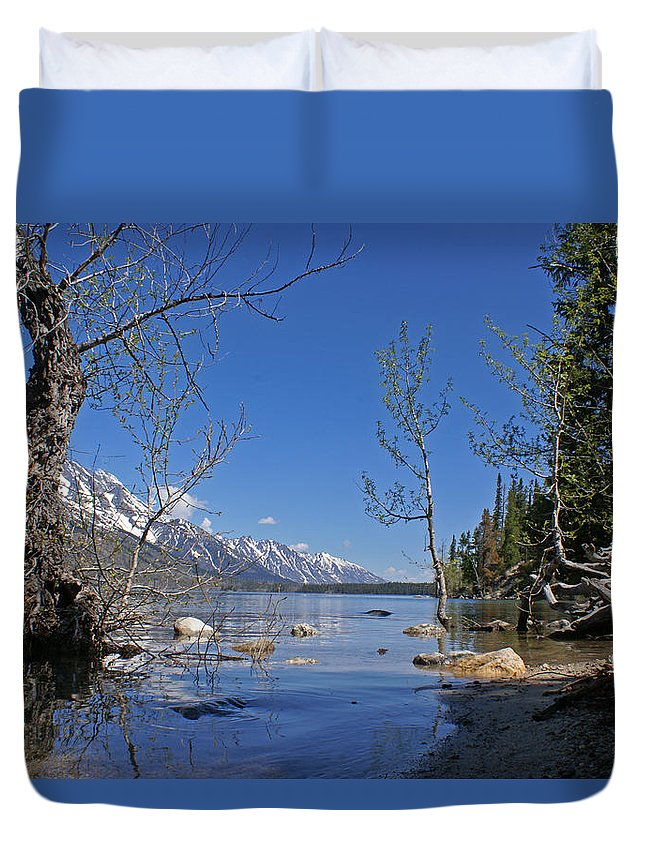 Lake Jenny Duvet Cover featuring the photograph Lake Jenny by Heather Coen