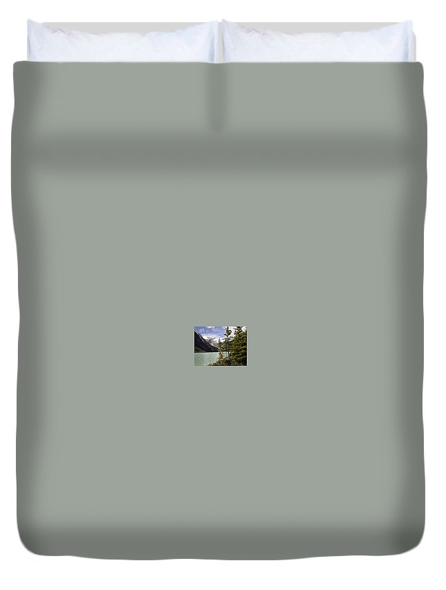 Water Duvet Cover featuring the photograph Lake Louise, Banff, Alberta, Canada by Darla Hershey