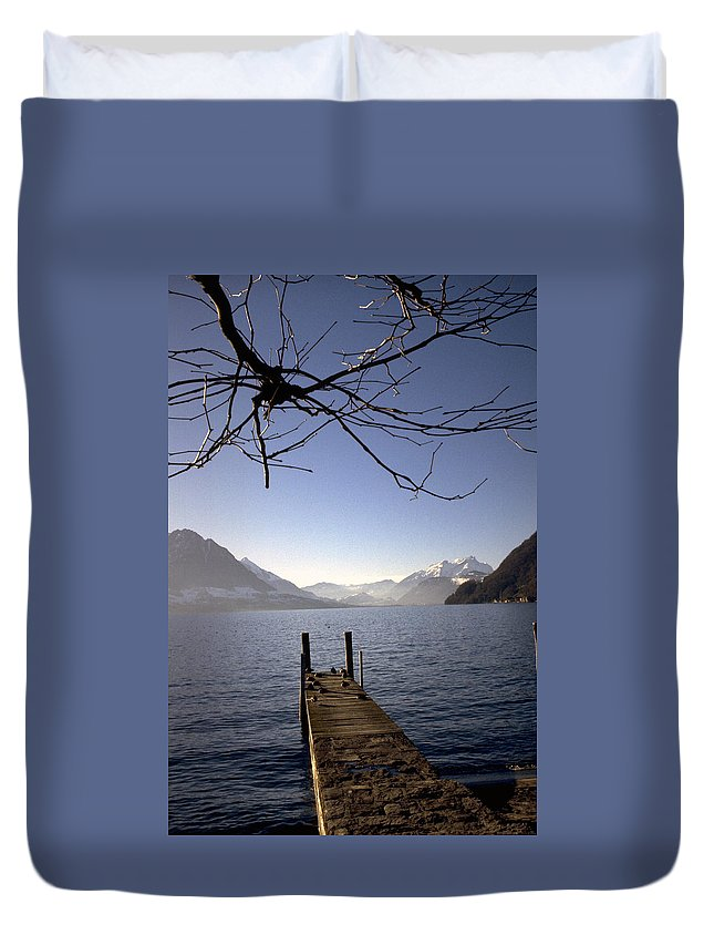 Lake Lucerne Duvet Cover featuring the photograph Lake Lucerne by Flavia Westerwelle