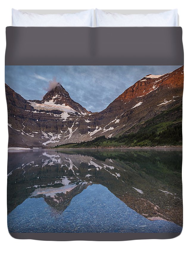 Alberta. Canada Duvet Cover featuring the photograph Lake Magog by Howie Garber
