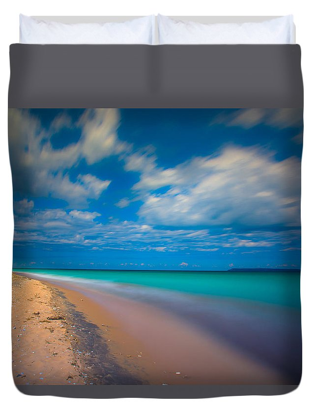Sleeping Bear Dunes Duvet Cover featuring the photograph Lake Michigan by Michael Tucker