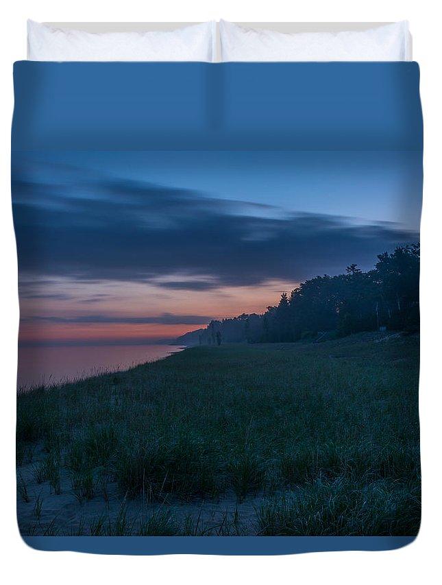 Lake Michigan Duvet Cover featuring the photograph Lake Michigan Morning 1 by Pravin Sitaraman