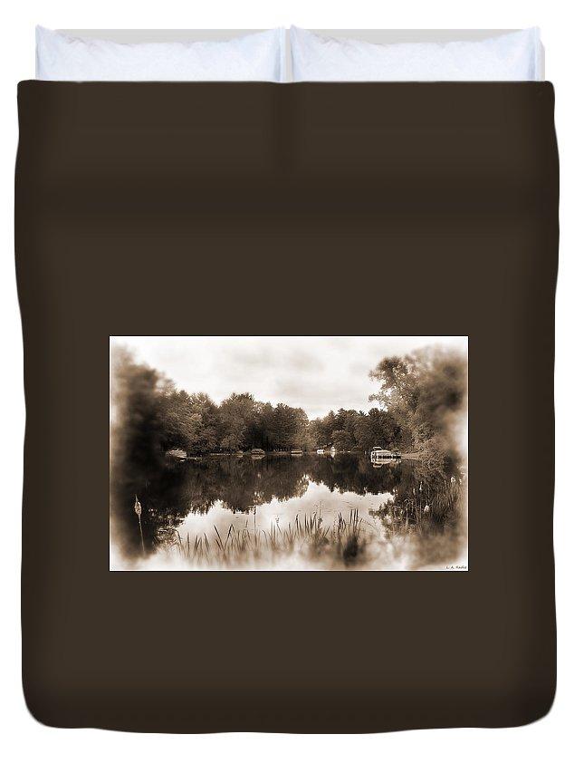 Lauren Radke Duvet Cover featuring the photograph Lake Morris by Lauren Radke