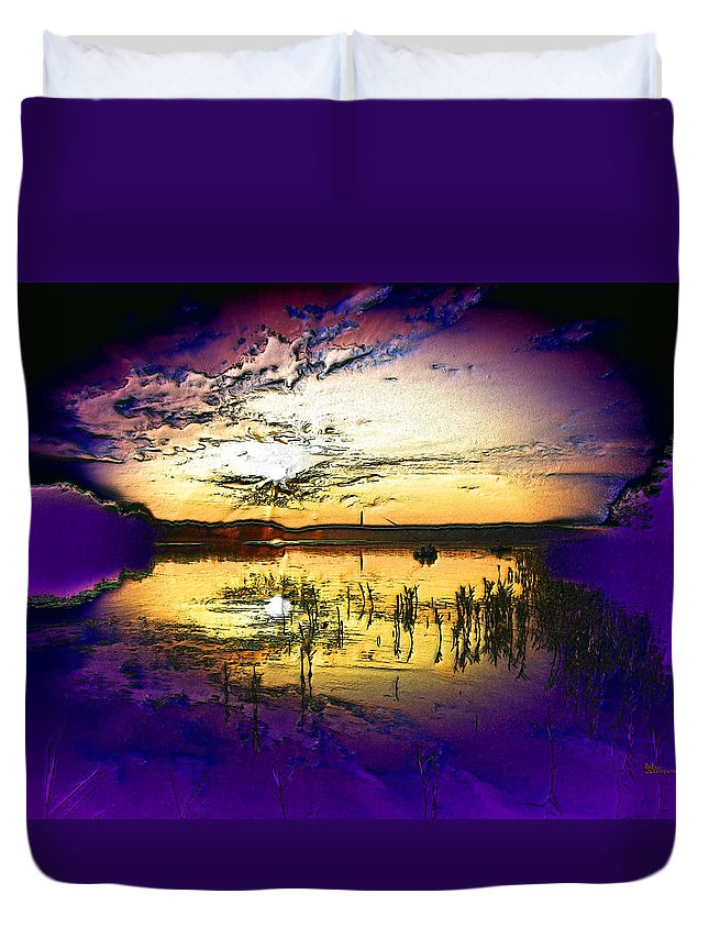 Soul Duvet Cover featuring the digital art Lake Of The Sleeping Souls by Max Steinwald