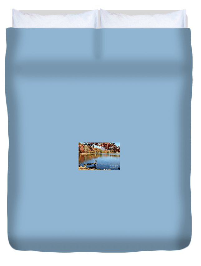 Lakes Duvet Cover featuring the photograph Lake Scene by Melody Meadows