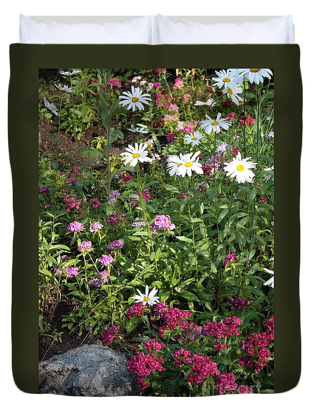 Flowers Duvet Cover featuring the photograph Lake Tahoe Beauties by Carol Groenen