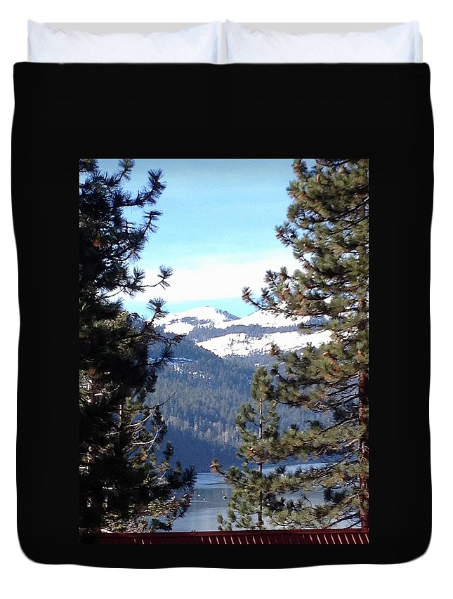 Lake Duvet Cover featuring the photograph Lake Tahoe by Bethany Morrow