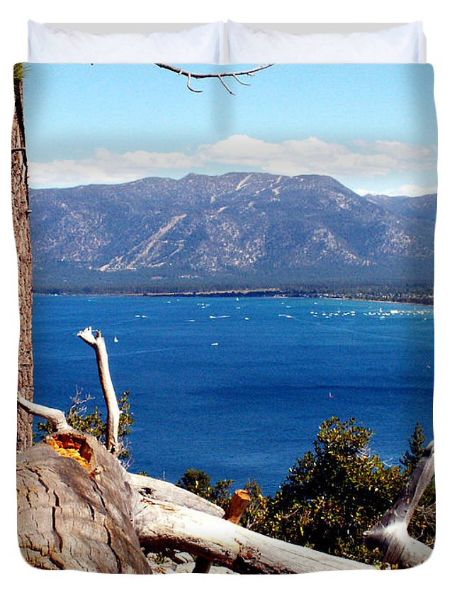 Tahoe Duvet Cover featuring the photograph Lake Tahoe by Bob Welch