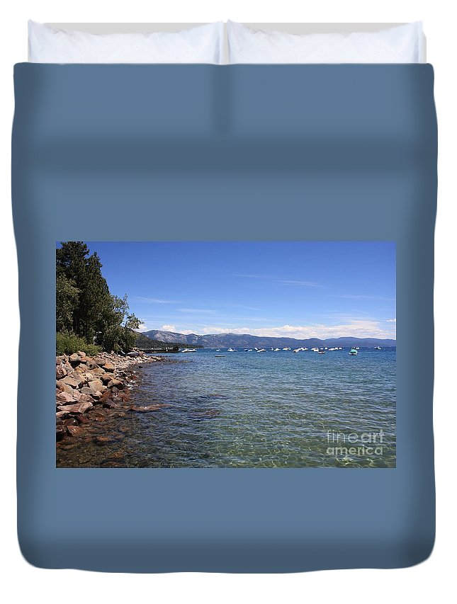 Lake Tahoe Duvet Cover featuring the photograph Lake Tahoe by Carol Groenen