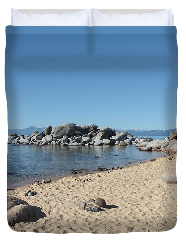 Lake Tahoe Duvet Cover featuring the photograph Lake Tahoe Morning by Carol Groenen