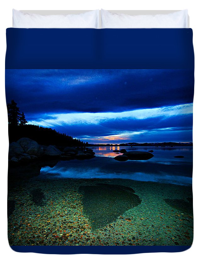Lake Tahoe Duvet Cover featuring the photograph Lake Tahoe Oh My by Sean Sarsfield