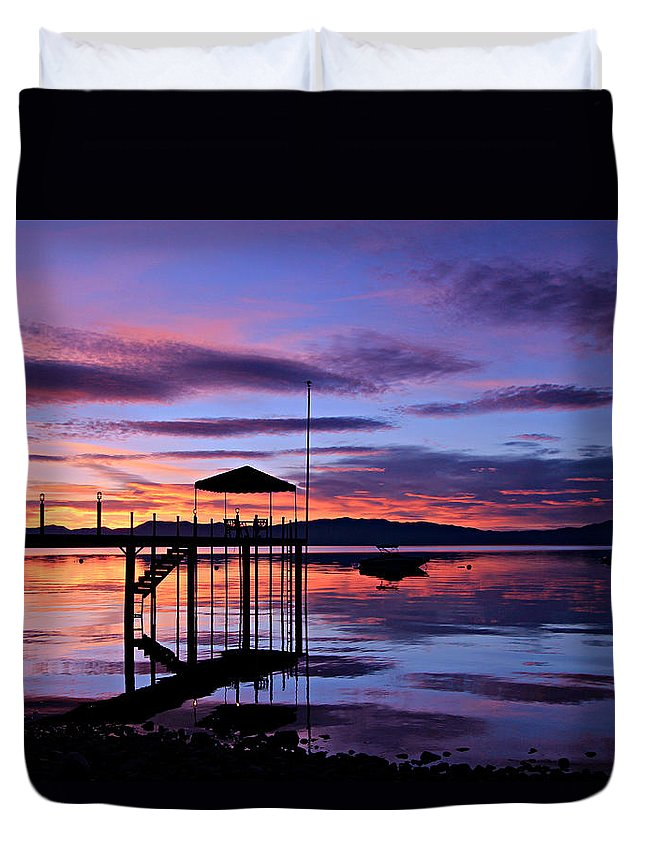 Lake Tahoe Duvet Cover featuring the photograph Lake Tahoe Rising by Sean Sarsfield