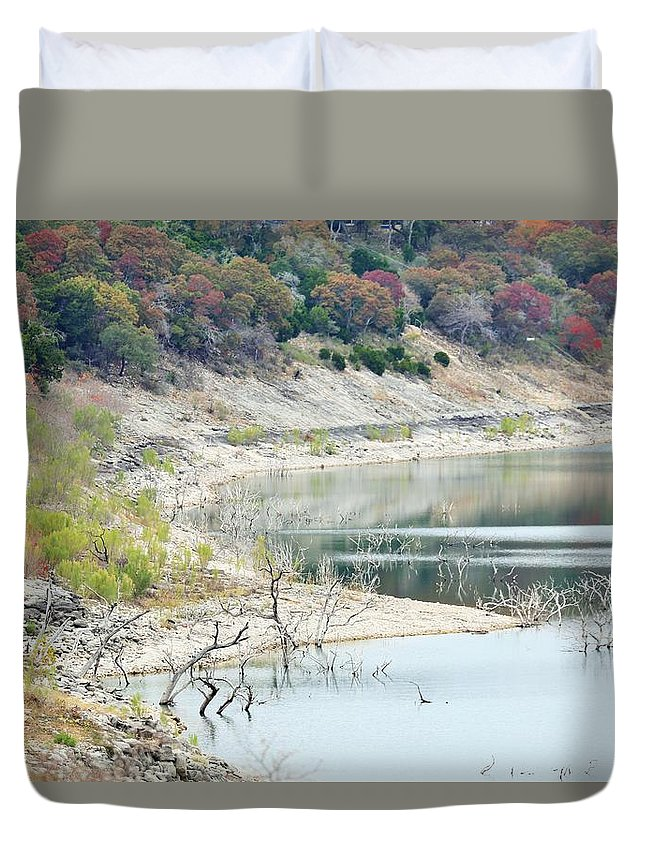 Duvet Cover featuring the photograph Lake022 by Jeff Downs