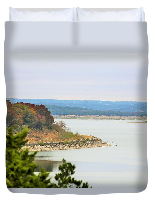 Duvet Cover featuring the photograph Lake023 by Jeff Downs
