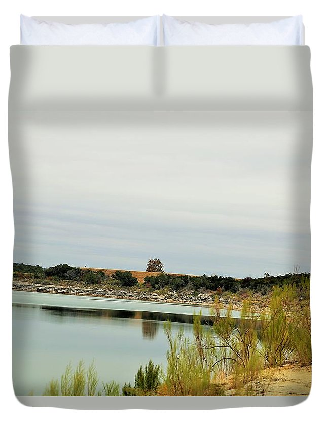 Duvet Cover featuring the photograph Lake030 by Jeff Downs