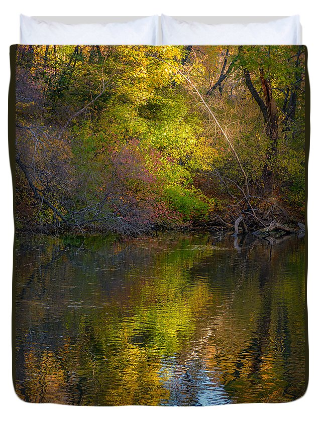 New York City Duvet Cover featuring the photograph Lakeside Dreams by Kenneth Laurence Neal