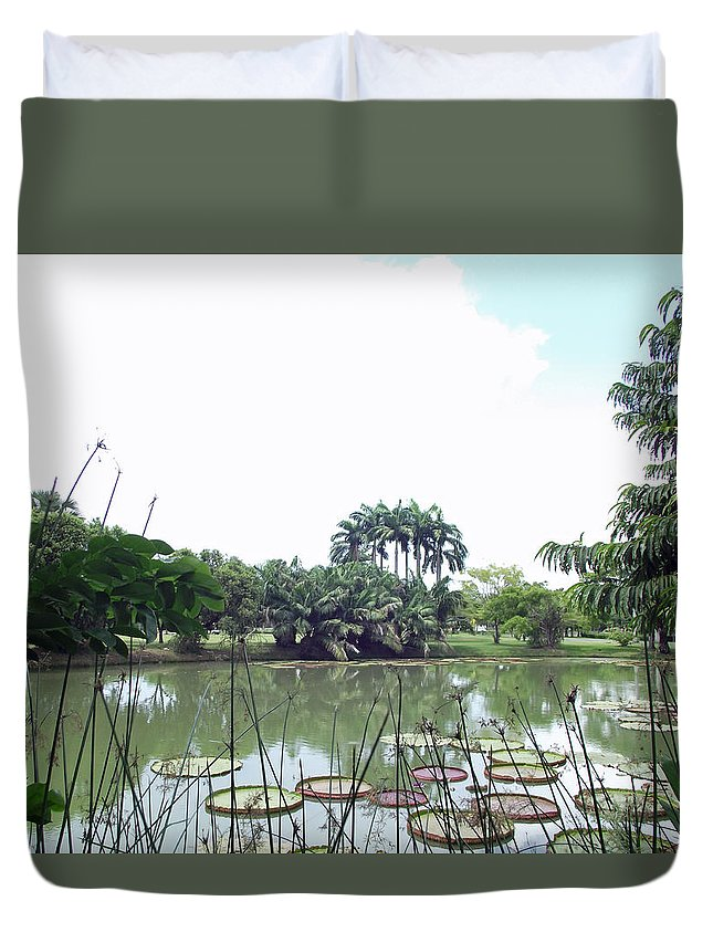 Lake Duvet Cover featuring the photograph Lakeside by Russell Pittock