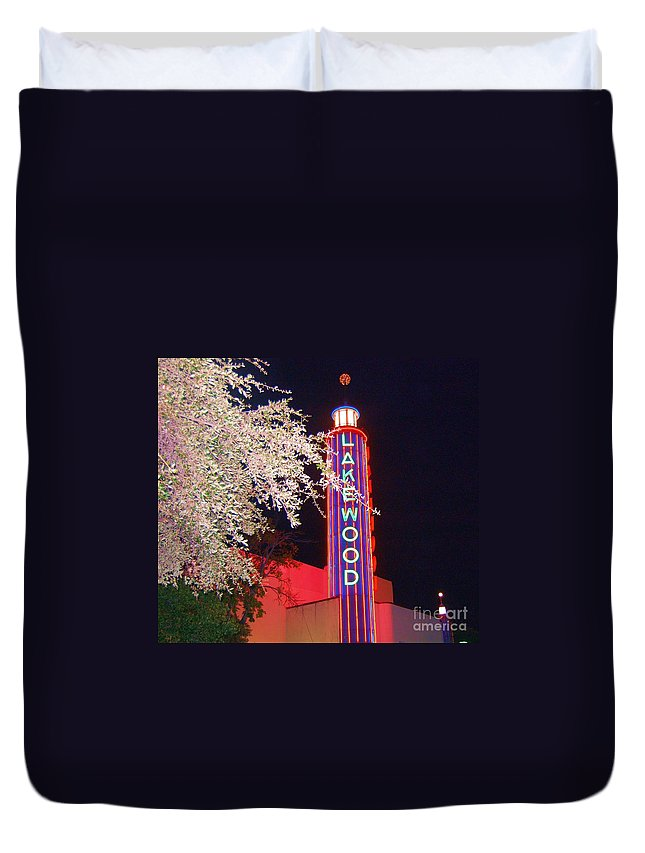 Theater Duvet Cover featuring the photograph Lakewood Theater by Debbi Granruth