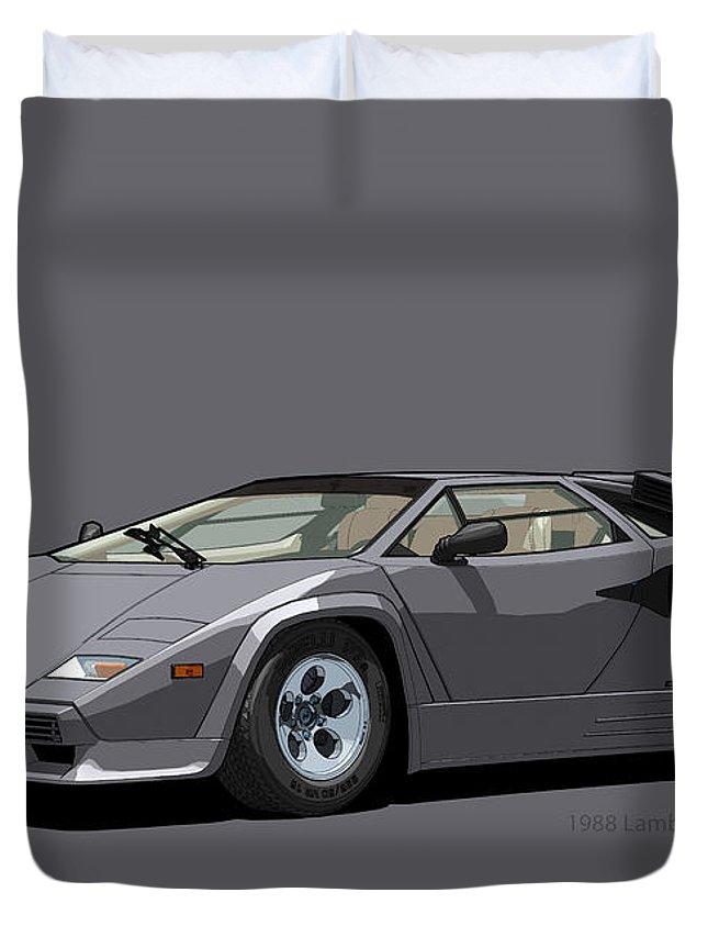 Lamborghini Countach 5000qv Canna Di Fucile Us Spec Duvet Cover For