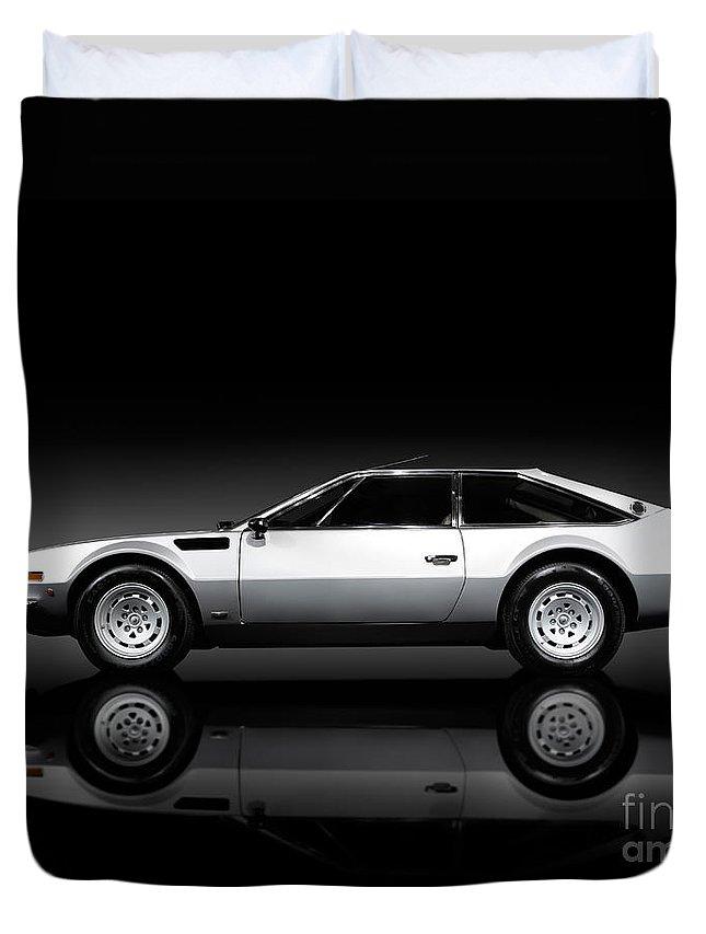 Lamborghini Duvet Cover featuring the photograph Lamborghini Jarama 1972 by Oleksiy Maksymenko