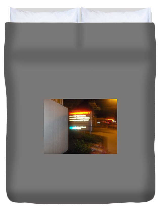 Photograph Duvet Cover featuring the photograph Lancaster Genral Entrance by Thomas Valentine