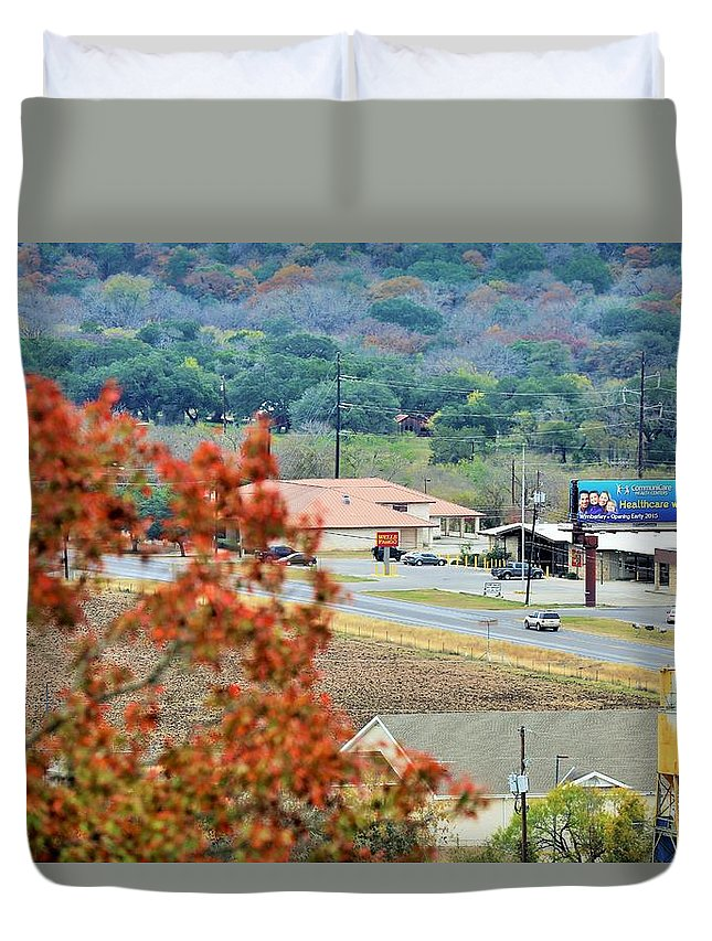 Duvet Cover featuring the photograph Land 033 by Jeff Downs
