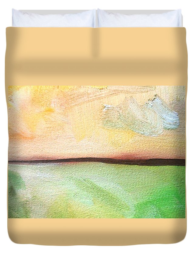 Truck Duvet Cover featuring the painting Land Before Time by Lord Frederick Lyle Morris - Disabled Veteran