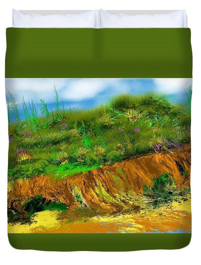 Fine Art Duvet Cover featuring the digital art Landscape 012711 by David Lane