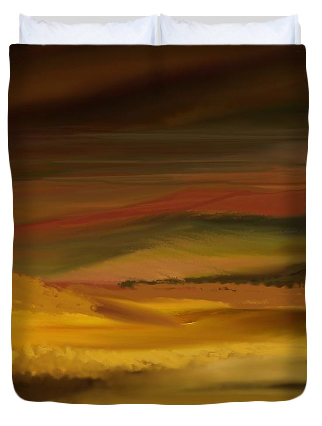 Fine Art Duvet Cover featuring the digital art Landscape 022111 by David Lane