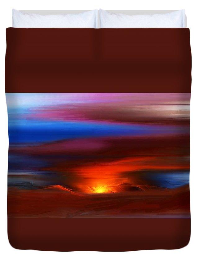 Landscape Duvet Cover featuring the digital art Landscape 081010 by David Lane