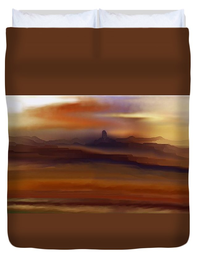 Landscape Duvet Cover featuring the digital art Landscape 082010 by David Lane