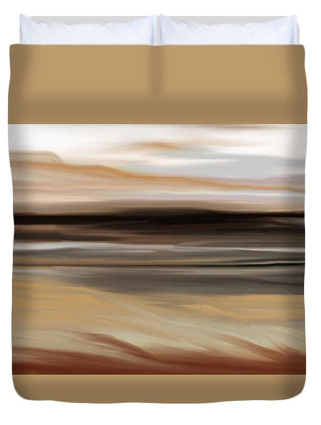 Landscape Duvet Cover featuring the digital art Landscape 103010 by David Lane