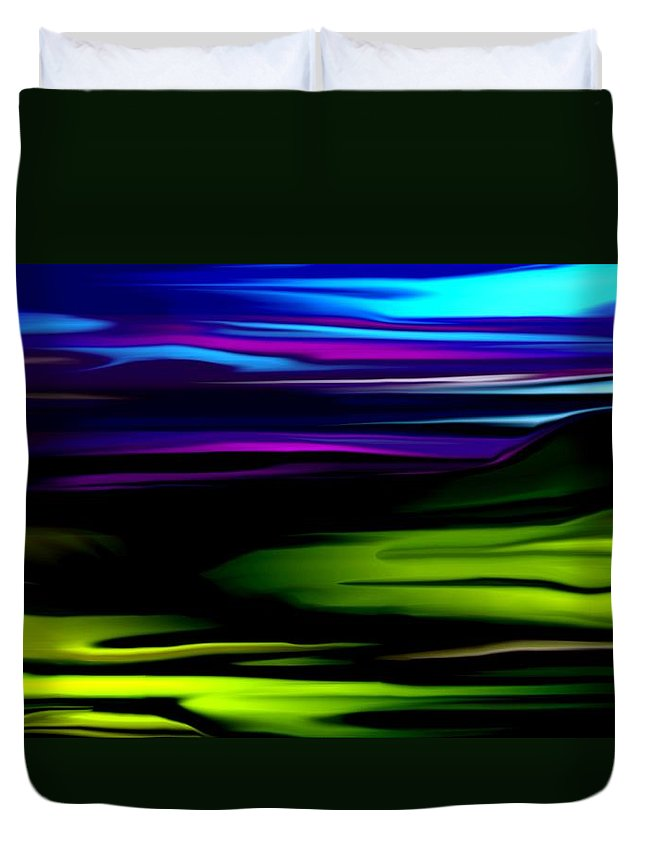 Abstract Expressionism Duvet Cover featuring the digital art Landscape 8-05-09 by David Lane