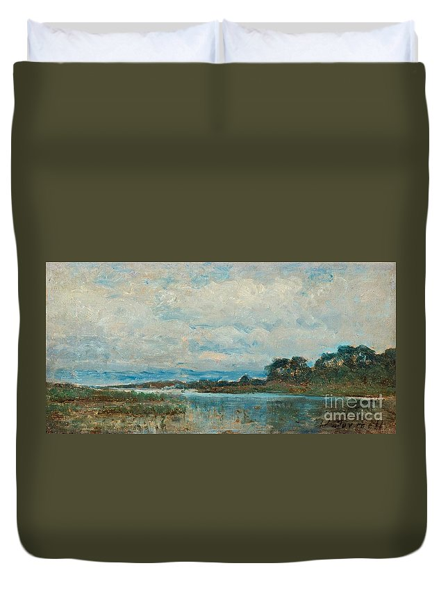 Victor Forssell Duvet Cover featuring the painting Landscape From The Surroundings by MotionAge Designs