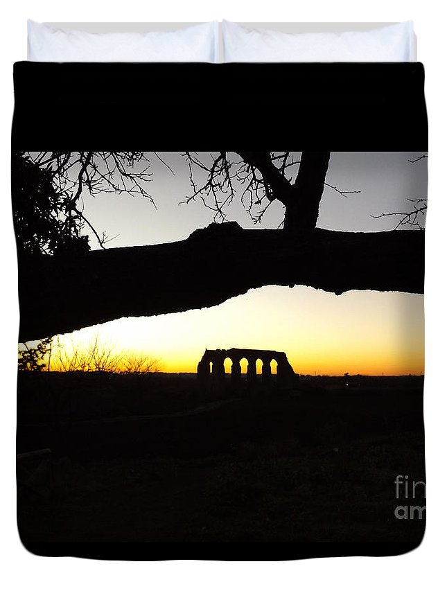 Photography Duvet Cover featuring the photograph Landscape Roman Campagna Italy by Alessandro Nesci