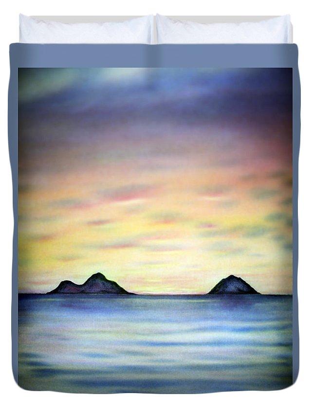 Lanikai Duvet Cover featuring the painting Lanikai Dawn by Kevin Smith