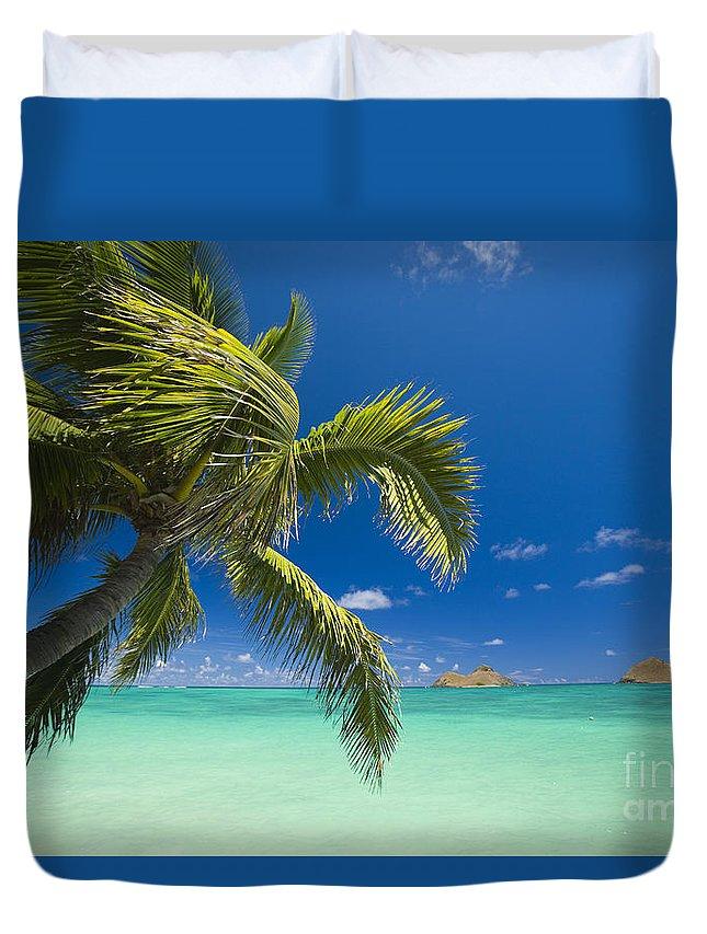 Afternoon Duvet Cover featuring the photograph Lanikai Seascape by Dana Edmunds - Printscapes