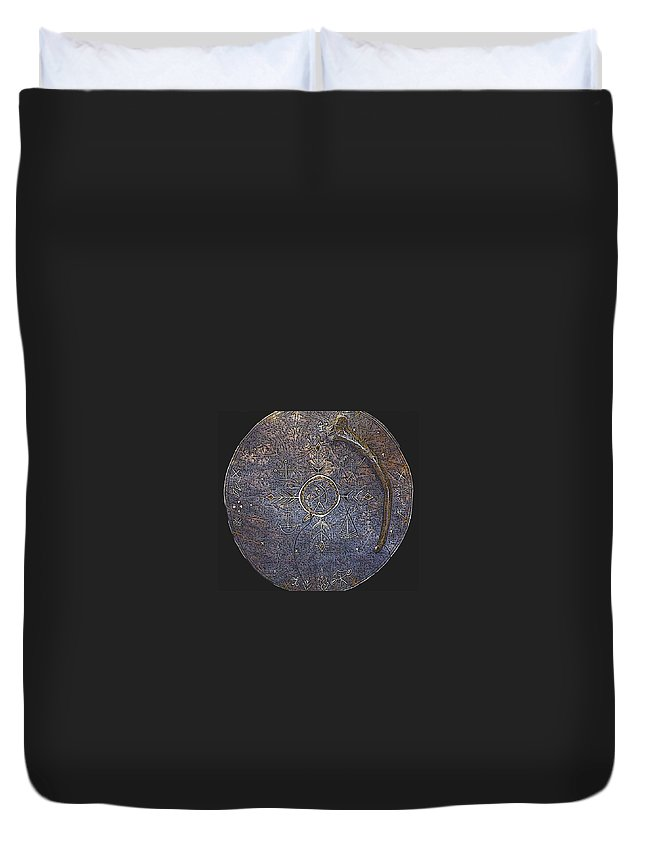 Lapland Duvet Cover featuring the photograph Lapland Shaman Drum by Merja Waters