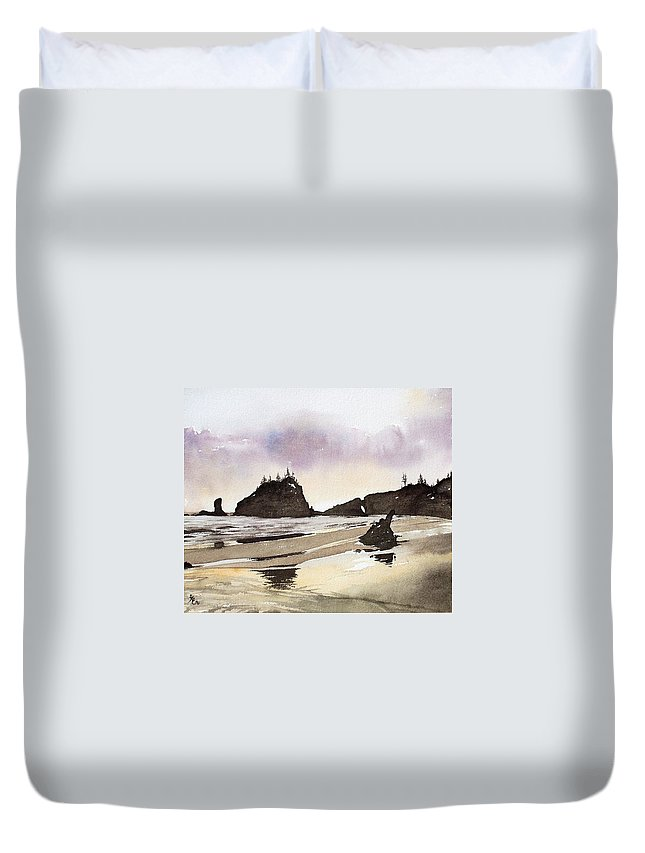Washington Duvet Cover featuring the painting Lapush by Gale Cochran-Smith
