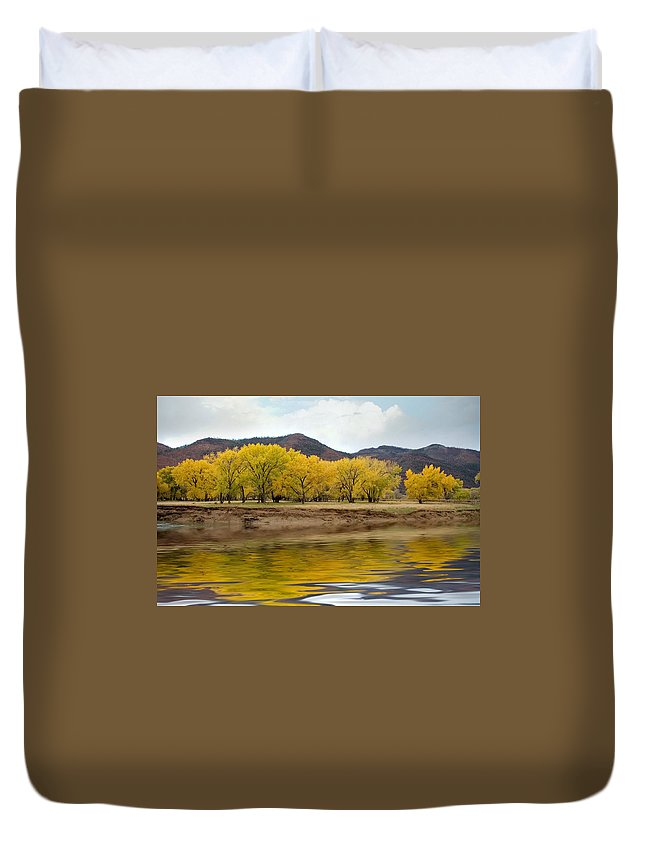 River Duvet Cover featuring the photograph Las Animas Fall by Jerry McElroy