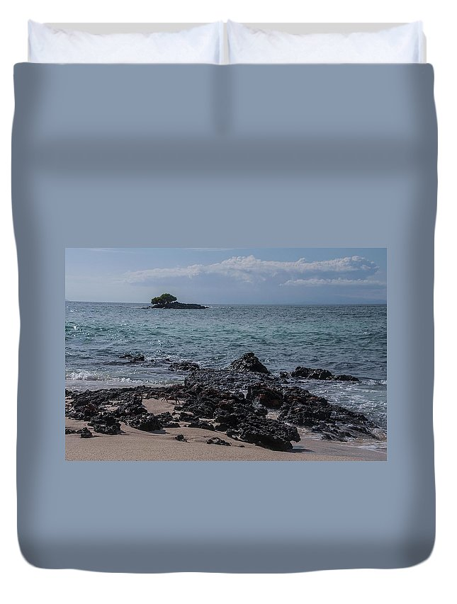 Lava Duvet Cover featuring the photograph Las Bachas Beach by NaturesPix