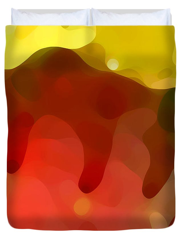 Abstract Duvet Cover featuring the painting Las Tunas Ridge by Amy Vangsgard