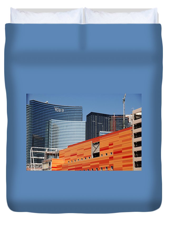 Photography Duvet Cover featuring the photograph Las Vegas Under Construction by Susanne Van Hulst