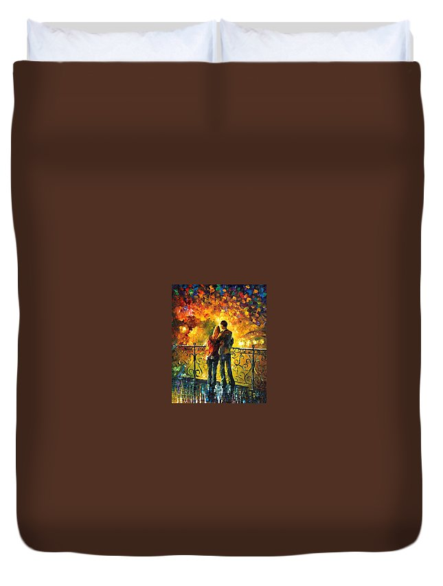 Afremov Duvet Cover featuring the painting Last Date by Leonid Afremov