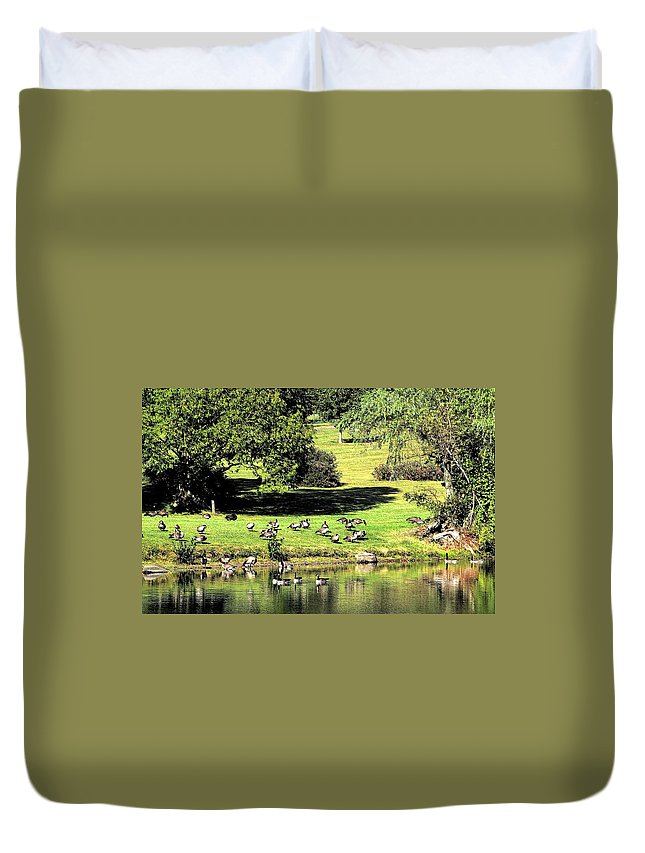 Bird Duvet Cover featuring the photograph Last Days Of Summer by Gaby Swanson