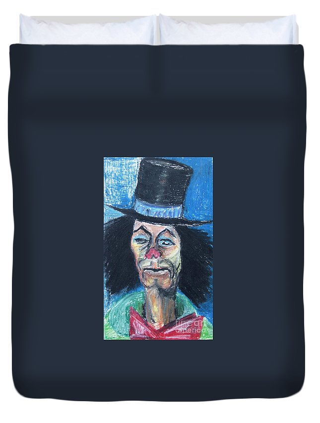 Clown Duvet Cover featuring the painting Last Laughs by Caroline Street