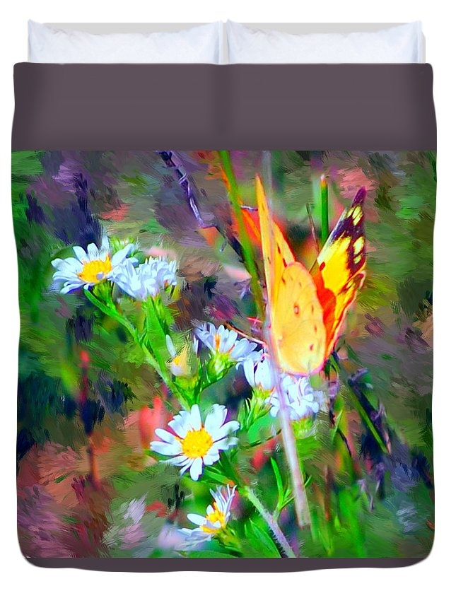Landscape Duvet Cover featuring the painting Last Of The Season by David Lane