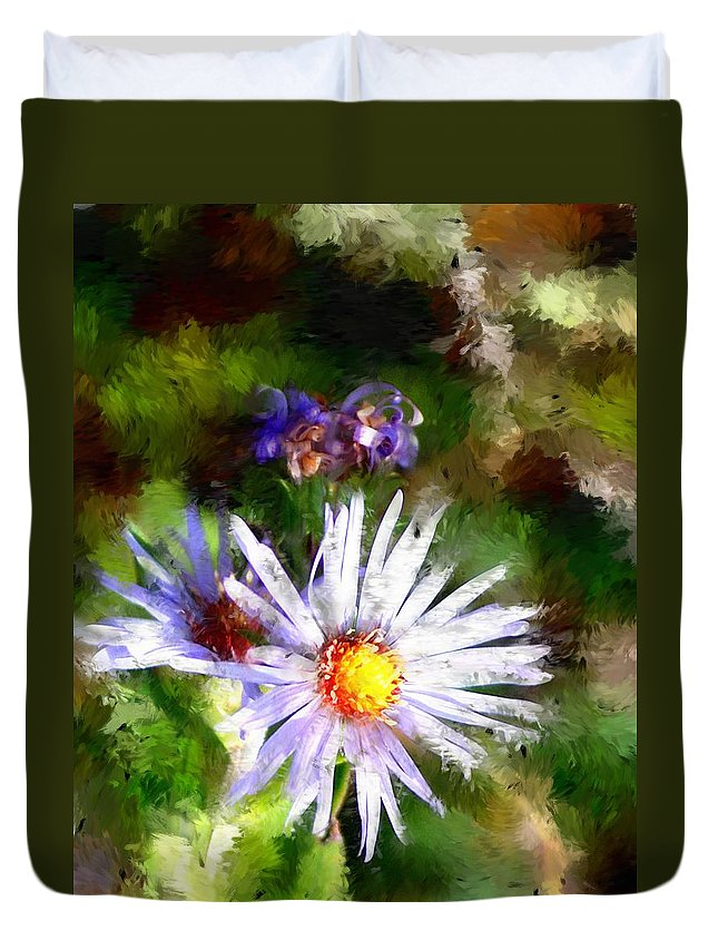 Flower Duvet Cover featuring the photograph Last Rose Of Summer by David Lane