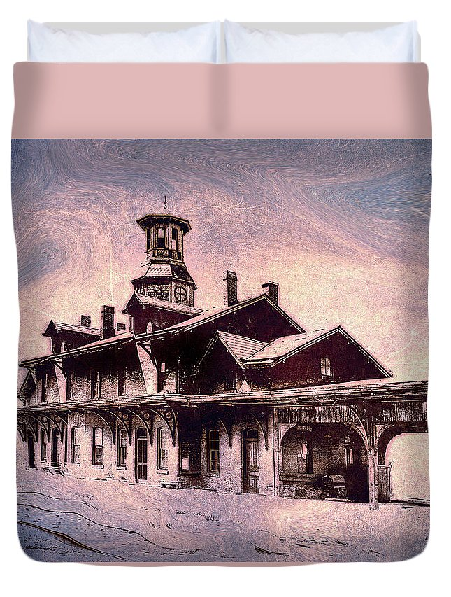 Consciousness Duvet Cover featuring the photograph Last Stop Blues... by Arthur Miller