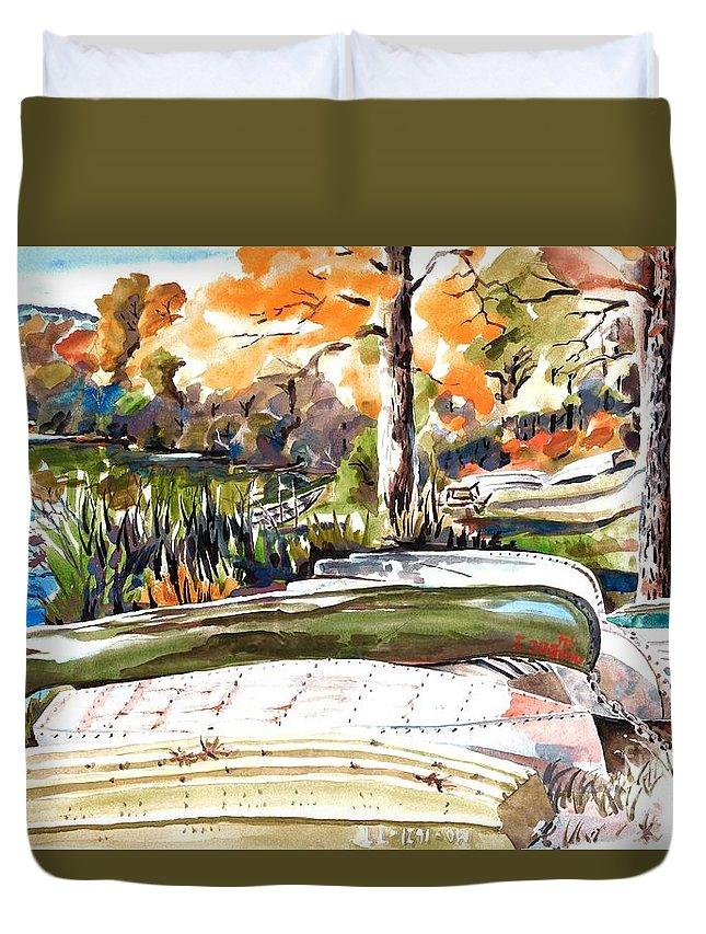 Last Summer In Brigadoon Duvet Cover featuring the painting Last Summer In Brigadoon by Kip DeVore